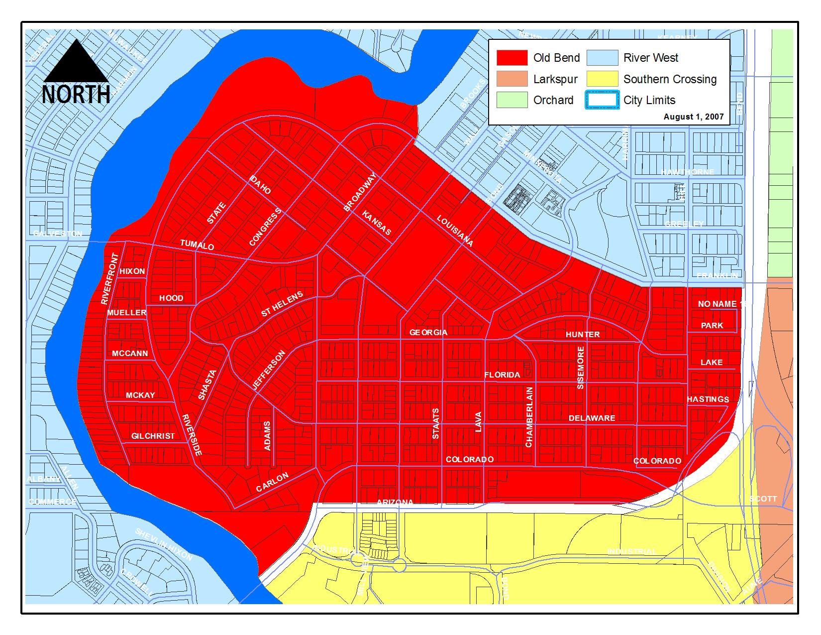 Neighborhood Map Old Bend Neighborhood Association